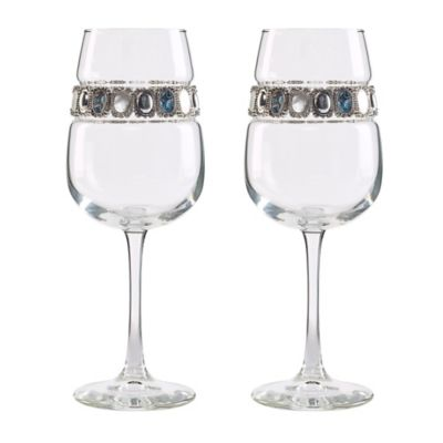 Shimmering Wines® by Stemware Designs Gemstone Wine Glasses (Set of 2)