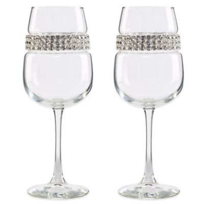 Shimmering Wines® by Stemware Designs Silver Wine Glasses (Set of 2)