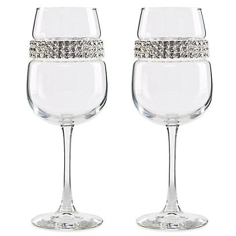 Shimmering Wines By Stemware Designs Silver Wine Glasses