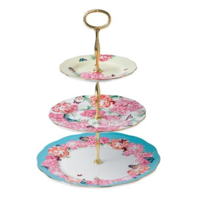 Royal Albert Devotion Gratitude & Joy 3-Tier Cake Stand