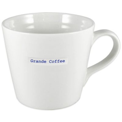 "Keith Brymer Jones Word Range ""Grande Coffee"" Large Mug"