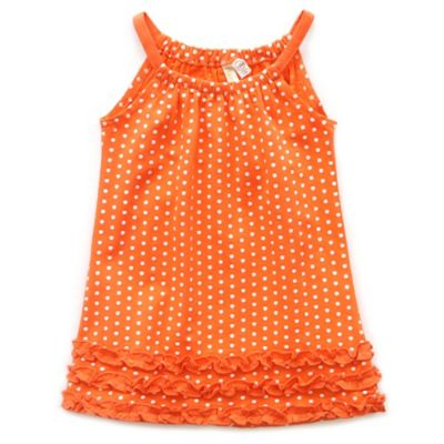 Planet Cotton® Size 6M Sleeveless Polka Dot Pillow Case Dress in Coral