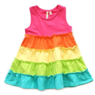 Planet Cotton® Size 6M Sleeveless 5-Tier Color Block Twirl Dress