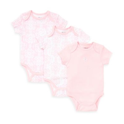 Little Me® Size 9M 3-Pack Damask Scroll Bodysuit in Pink