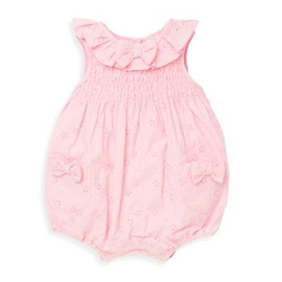 Little Me® Size 6M Sleeveless Eyelet Sunsuit in Pink