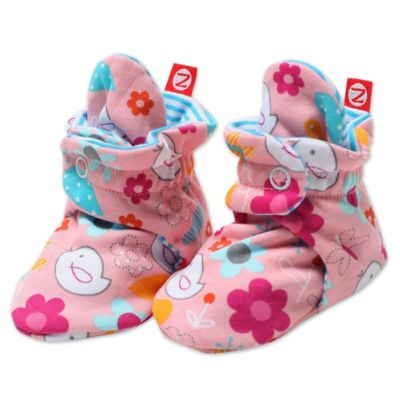 Zutano Size 3M Friendly Bird Booties in Pink
