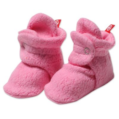 Zutano® Size 3M Cozie Fleece Booties in Hot Pink