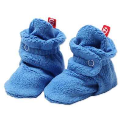 Zutano Size 6M Cozie Fleece Booties in Periwinkle