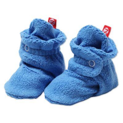 Blue Fleece Booties