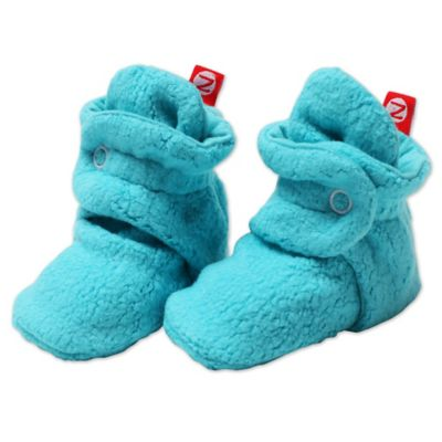 Zutano Size 6M Cozie Fleece Booties in Pool