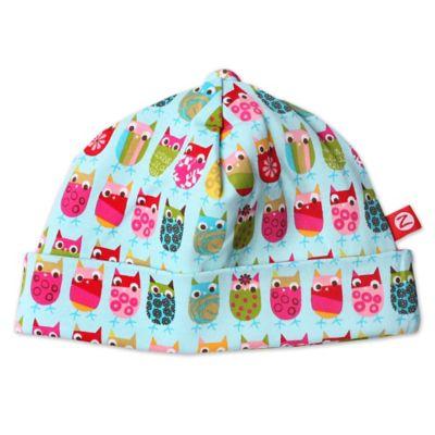 Zutano® Newborn Owl Print Hat in Aqua