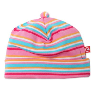 Zutano® Newborn Striped Cap in Pink