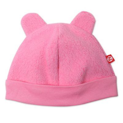 Zutano® Size 3M Baby Bear Ears Cozie Hat in Pink