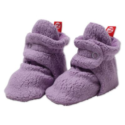 Zutano® Size 3M Cozie Fleece Booties in Orchid