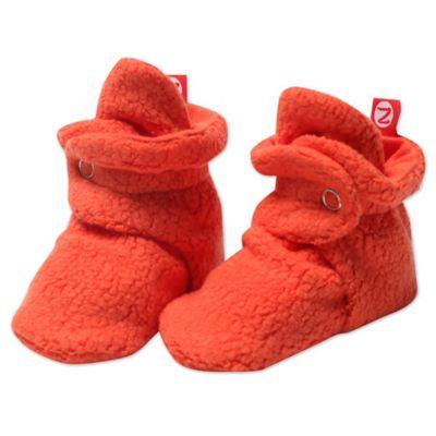Zutano® Size 12M Cozie Fleece Booties in Mandarin
