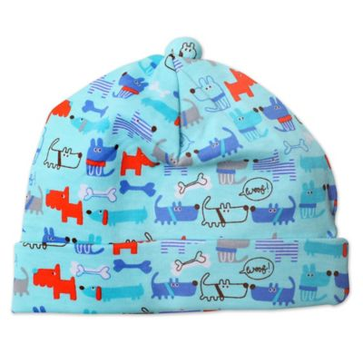 Zutano® Newborn Le Chien Knit Hat in Aqua