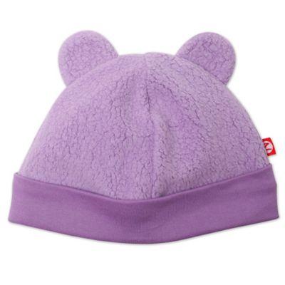 Zutano® 6M Baby Bear Cozie Hat in Purple