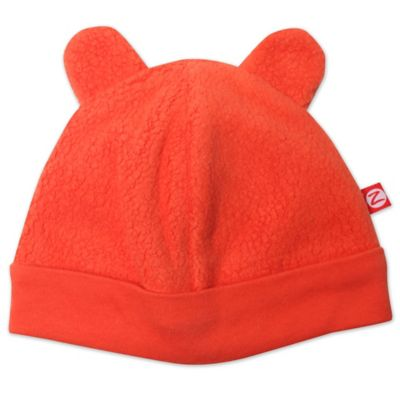 Zutano® Size 3M Baby Bear Cozie Hat in Orange