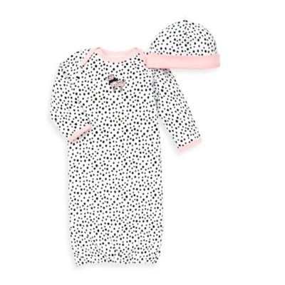 Little Me® 2-Piece Perfect Poodle Long Sleeve Gown and Hat Set