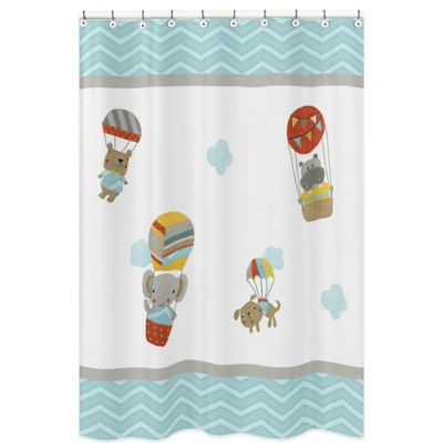 Sweet Jojo Designs Balloon Buddies Shower Curtain