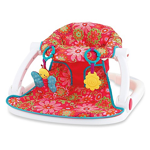 Fisher Price 174 Sit Me Up Floor Seat In Pink Flower Bed