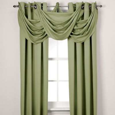 Insola® Odyssey Insulating Waterfall Window Valance in Blue