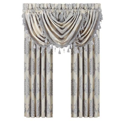 J. Queen New York™ Dante Waterfall 42-Inch Window Valance in Cream