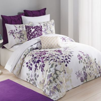 Kas® Winchester Twin Duvet Cover in Purple