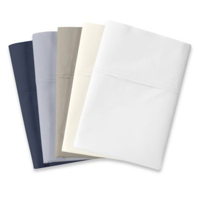 500 Thread Count Cotton Wrinkle-Free Standard Pillowcases in Navy (Set of 2)