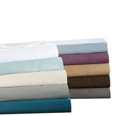 Sleep Philosophy Liquid Cotton California King Sheet Set in Purple
