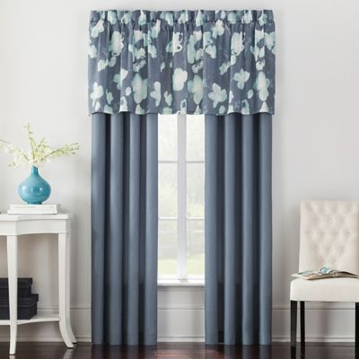 Posey 24-Inch Window Valance in Blue