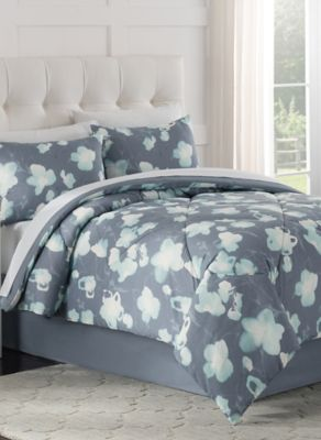 Posey 6-Piece Twin Comforter Set in Blue