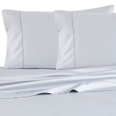 Barbara Barry Feather Stitch California King Sheet Set in Water