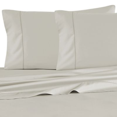 Barbara Barry Feather Stitch California King Sheet Set in Pebble
