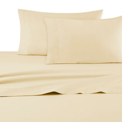 DKNY Classic Percale Standard Pillowcases in Yellow (Set of 2)