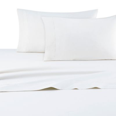DKNY Classic Percale King Pillowcases in White (Set of 2)