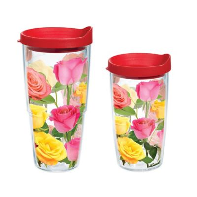 Tervis® Coming Up Roses 24 oz. Wrap Water Bottle with Lid