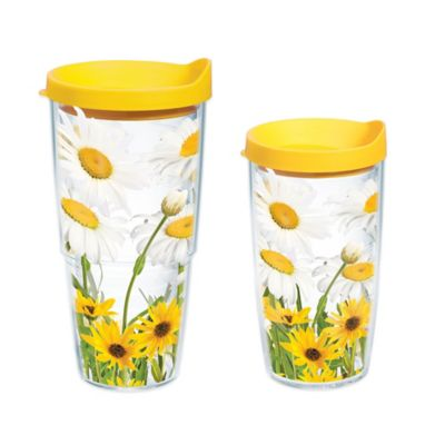 Tervis® White Daisies 24 oz. Wrap Water Bottle with Lid