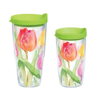 Tervis® Tea For Tulips 24 oz. Wrap Water Bottle with Lid