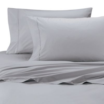 500 Thread Count Cotton Wrinkle-Free King Sheet Set in Silver