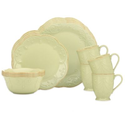 Lenox® French Perle 16-Piece Dinnerware Set in Pistachio