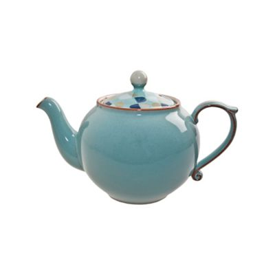 Denby Heritage Fountain Teapot in Blue