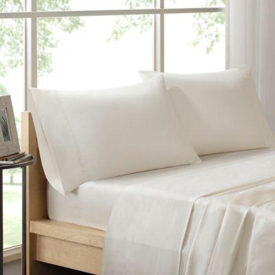 Sleep Philosophy Liquid Cotton Queen Sheet Set in Ivory