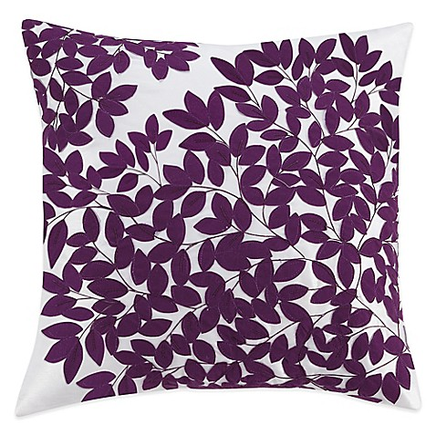 Buy Kas Winchester Square Throw Pillow in Purple from Bed Bath & Beyond