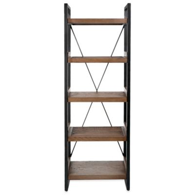 Kenneth Cole Reaction Home® 5-Tier Tower Slatted Bookcase in Dark Brown