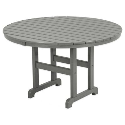 Polywood® La Casa 48-Inch Round Dining Table in Slate Grey
