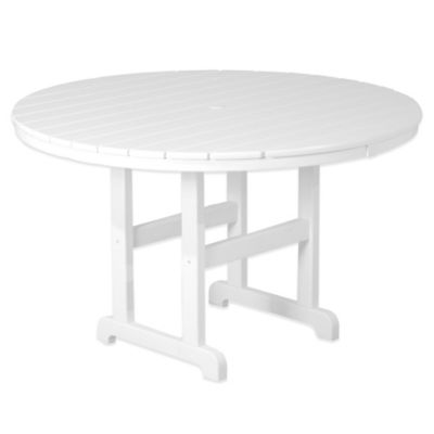 POLYWOOD® La Casa 48-Inch Round Dining Table in White