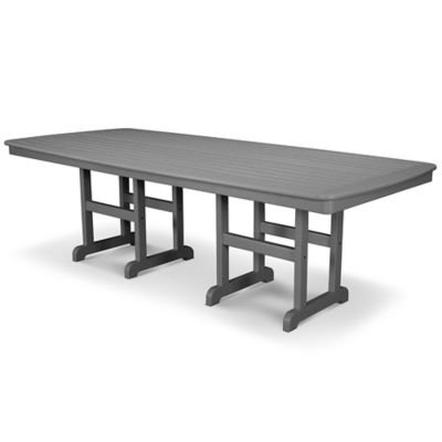 POLYWOOD® Nautical 44-Inch x 96-Inch Dining Table in Slate Grey