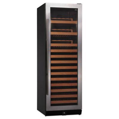 Kingsbottle 170-Bottle Single-Zone Wine Cooler in Stainless Steel