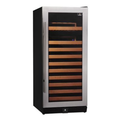 Kingsbottle 100-Bottle Single-Zone Wine Cooler in Stainless Steel